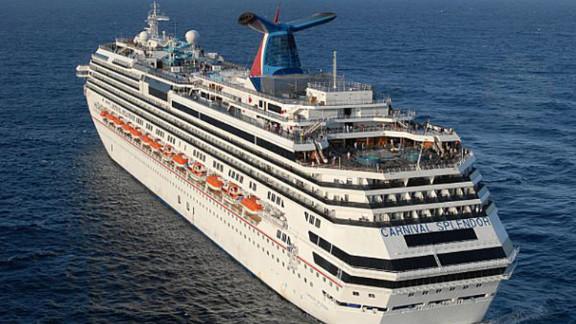 The 3,000-plus passenger Carnival Splendor set sail February 19 from Long Beach, California.