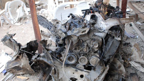 Police said a car packed with explosives rammed into the compound of the Church of Christ headquarters in Jos.