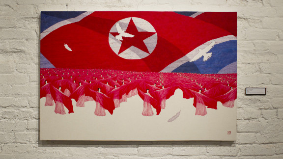 """Mass Game"" depicts a trademark image of North Korea, where thousands participate in exercises of unity and patriotism."
