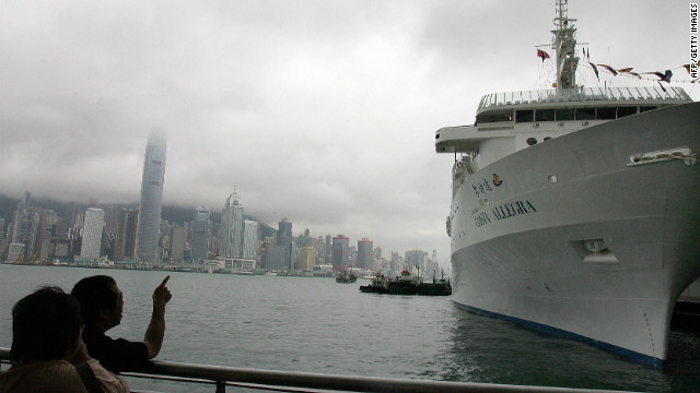 The Costa Allegra berthed in Hong Kong prior to its maiden voyage to Mumbai, India on May 29, 2006.