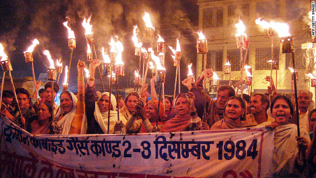 The Bhopal disaster is the worst industrial tragedy in India's history. Here, protestors demonstrate in 2006.