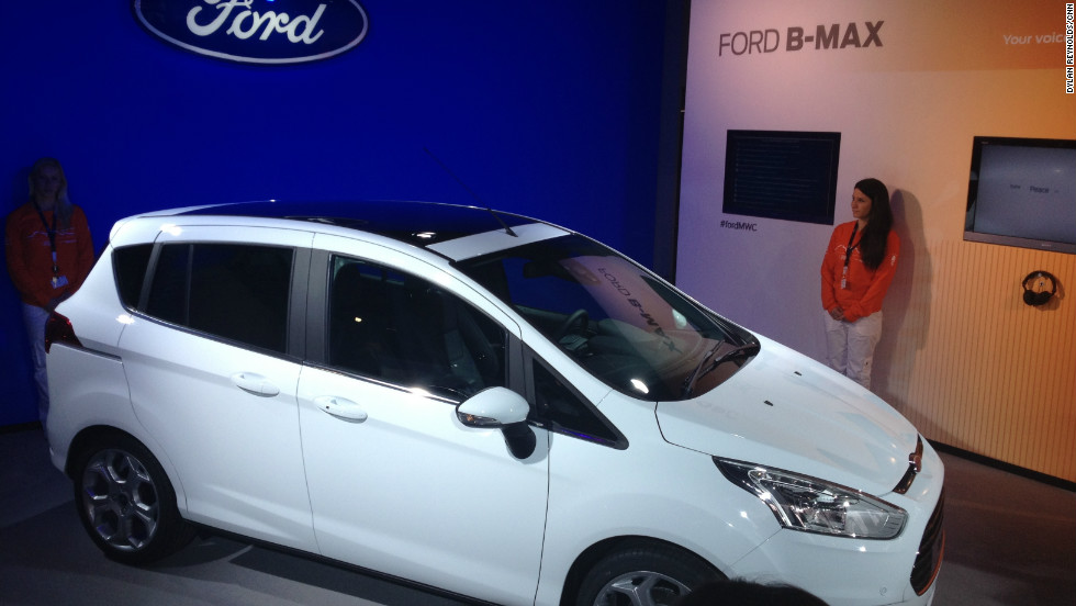Ford's launched its technology-stuffed B-Max car at the Mobile World Congress to tout its hi-tech credentials.