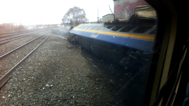 A passenger train derailed Sunday in Burlington, Canada, about 40 miles southwest of Toronto.
