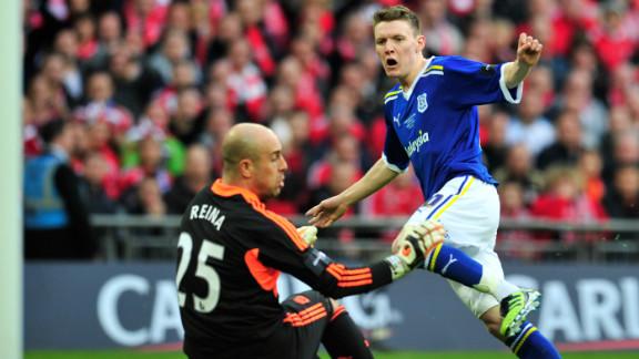 Premier League side Liverpool were shocked when Welsh team Cardiff took a first-half lead through English midfielder Joe Mason.