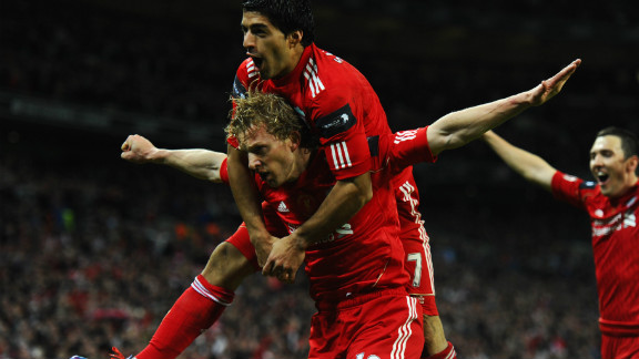 Substitute Dirk Kuyt thought he had won the match for Liverpool when he found the back of the net with 12 minutes to play.