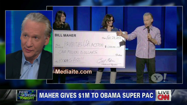 Maher on his super PAC donation