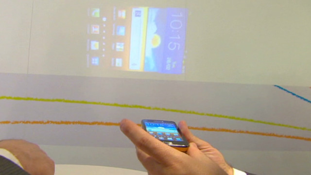 Mobile phone boasts built-in projector