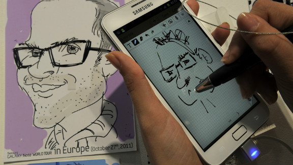The stylus is back! The Samsung Galaxy Note device has reintroduced the tool for more accurate touch screen control.