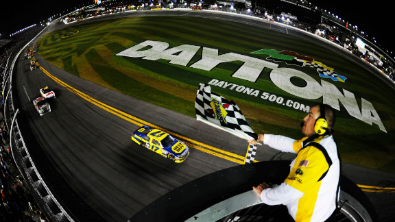 Kenseth stayed out in front to take the checkered flag at 1 a.m. local time, meaning the race had entered a third day for the first time.