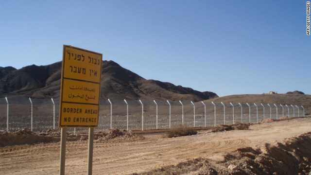 A security fence in seen along the Israel-Egypt border on November 22, 2011, 20 kilometers north of the Red Sea resort of Eilat.