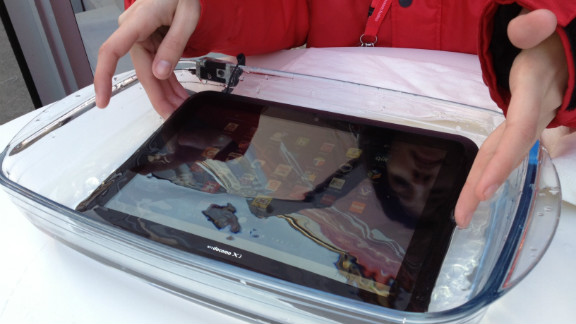 Japanese electronics firm Fujitsu relies on waterproof seals to keep its tablets dry.
