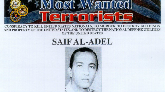 """""""Most Wanted Terrorist"""" poster of Saif al-Adel released by the FBI on October 10, 2001. In an apparent mix up, Egypt says the man they seized at Cairo's airport was not Saif al-Adel."""