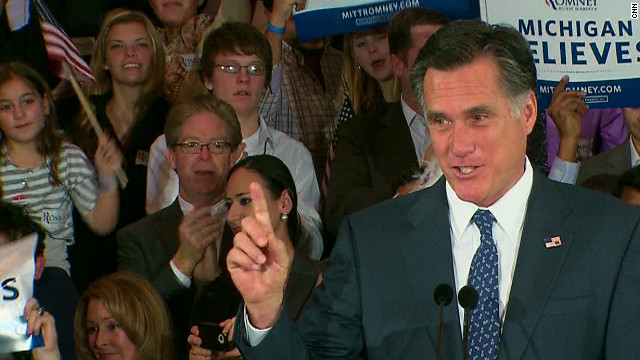 Romney wins big in Arizona, Michigan