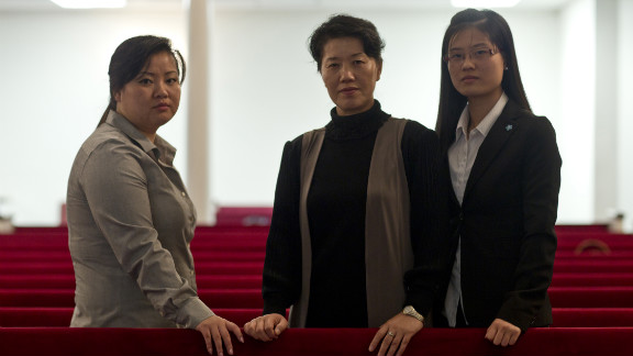 """JinHye Jo, Song Ee Han and EunHye Jo used to scour the countryside for tree bark, grass and rodents to survive in North Korea. """"You can't sleep,"""" JinHye recalled. """"You think of meat, rice and what it's like to have food in your stomach. You're constantly thinking of food, so you lose your mind."""""""