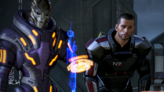 """In """"Mass Effect 3,"""" the final chapter in a planned trilogy, players must unite the galaxy to recapture Earth from alien invaders."""