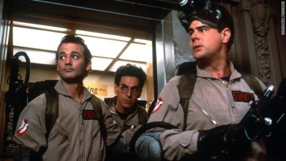 """Bill Murray, Harold Ramis and  Dan Aykroyd, starred in the film """"Ghostbusters."""""""