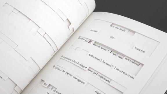 """Foer conceptualized """"Tree of Codes,"""" in which he took a short story by Bruno Schulz and cut words out of it."""