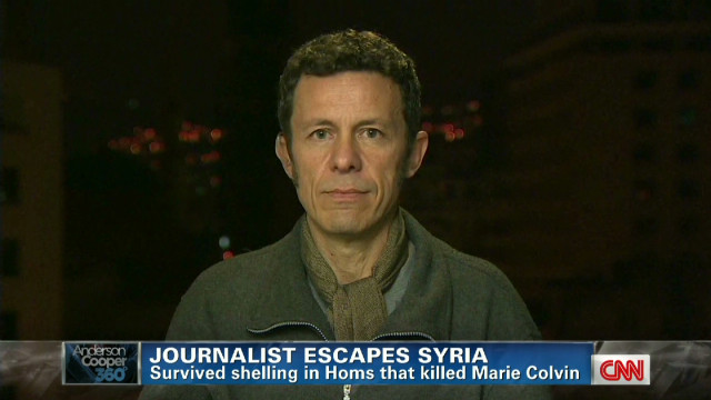 Journalist escapes from Syria