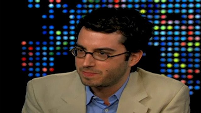 "Foer talks ""Eating Animals"" on ""Larry King Live"" in 2009."