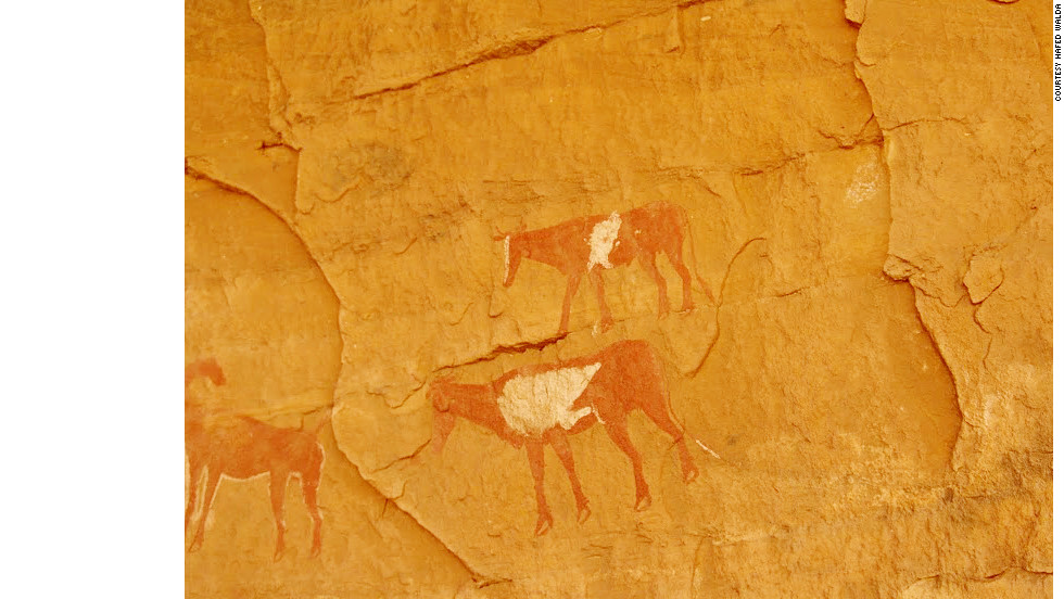 Cave paintings dating from 12,000 B.C. to A.D. 100 dot the mountains across Acacus.