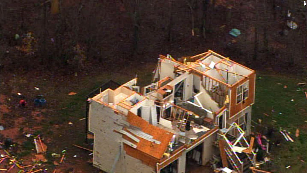 High winds during an overnight storm system tore apart a Paulding County home.