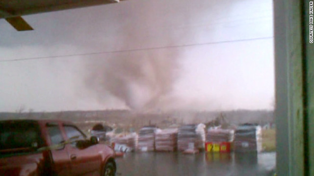 Roar of Henryville tornado on-camera