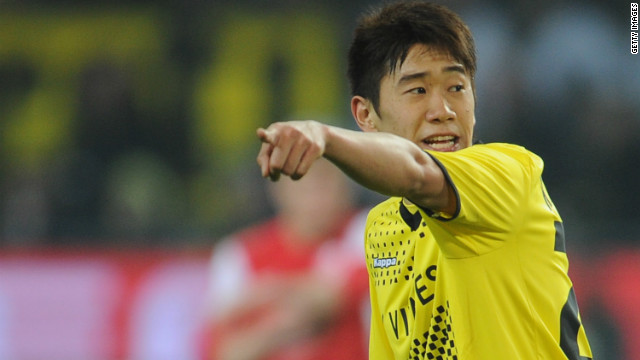 Borussia Dortmund's Shinji Kagawa scored the second goal in a 2-0 win over Mainz on Saturday