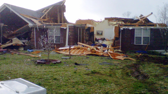 Meridianville, Alabama, was hit hard by Friday's storm system.