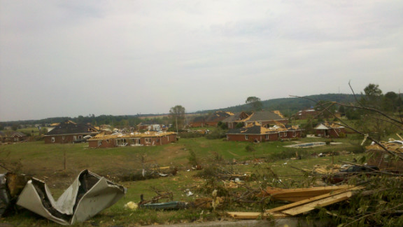Harvest, Alabama, was devastated by a tornado on Friday, for the fourth time since 1974.