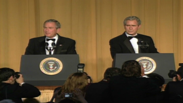 2006: Bush and impersonator crack jokes