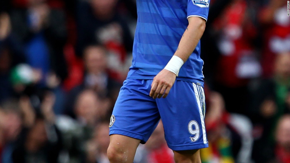 His first defeat as Chelsea manager arrived at Old Trafford, where Villas-Boas' team were beaten 3-1 by Manchester United in September. The match was best remebered for a horrible miss by Chelsea striker Fernando Torres, who fired wide from six-yards out with the goal gaping.