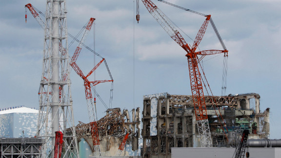 This general view shows Tokyo Electric Power Co.'s tsunami-crippled numbers 2, 3 and 4 reactor buildings at Fukushima.