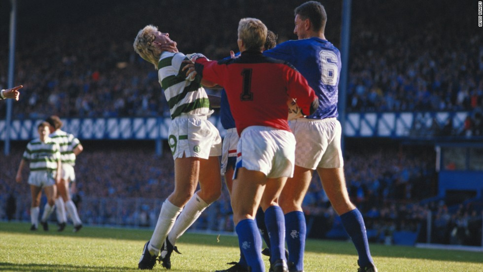 The Old Firm games always inflame passions and often result in several flashpoints. During this match in 1985, a group of Rangers players took exception to Celtic striker Frank McAvennie. Celtic insist the potential demise of Rangers won't affect them, but Scottish football experts disagree.