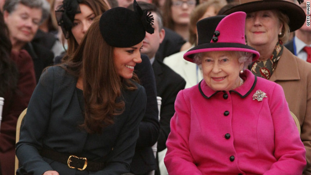 Queen and Catherine attend fashion show