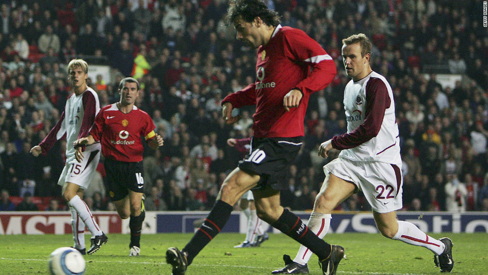 Dutch striker Ruud van Nistelrooy is the second-highest scorer in European Cup and Champions League history with 60 goals, behind Raul. He found the net four times while playing for Manchester United in a 4-1 win over Sparta Prague in 2004.