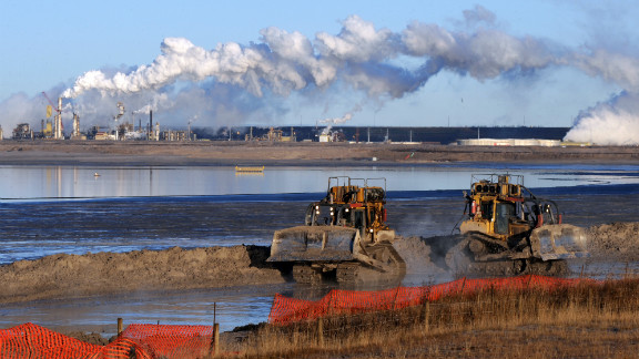 File photo of oil sands extraction facility in Alberta Province, Canada.