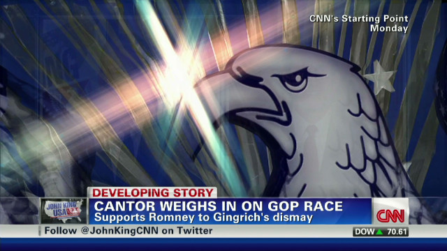 Cantor responds to Gingrich accusation