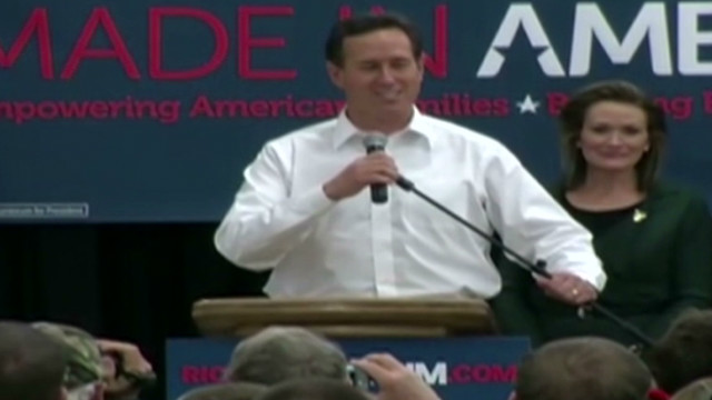 Santorum hails 'comfortable' Kansas win