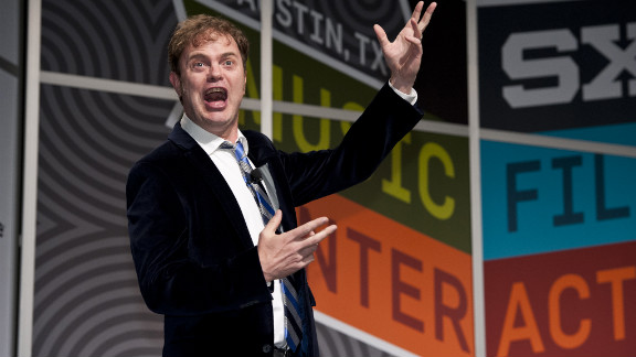 Actor Rainn Wilson spoke before thousands of fans Saturday at SXSW in Austin, Texas. He wasn