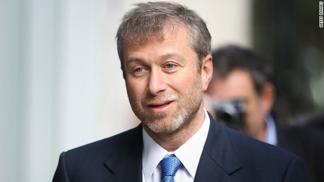 Abramovich missed his team's FA Cup final victory over Manchester United on Saturday.