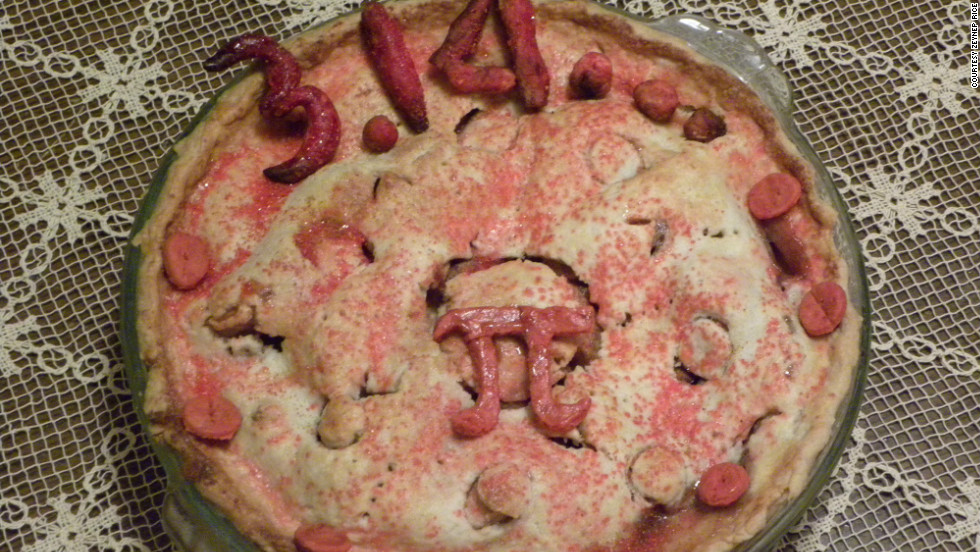 iReporter Zeynep Rice made this pie. The main filling is derived from a deep dish apple pie recipe, and she added pears.
