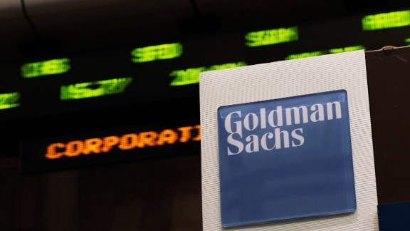 The Goldman Sachs booth on the floor of the New York Stock Exchange April 16, 2010.