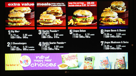 The law requires restaurants with 20 or more locations to list calorie content information for standard menu items.
