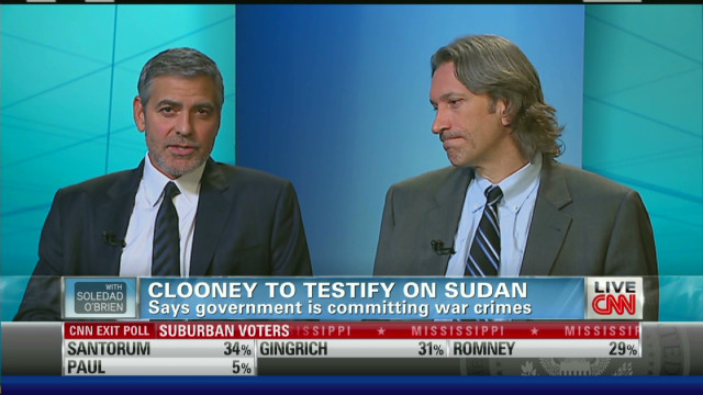 George Clooney to testify on Sudan