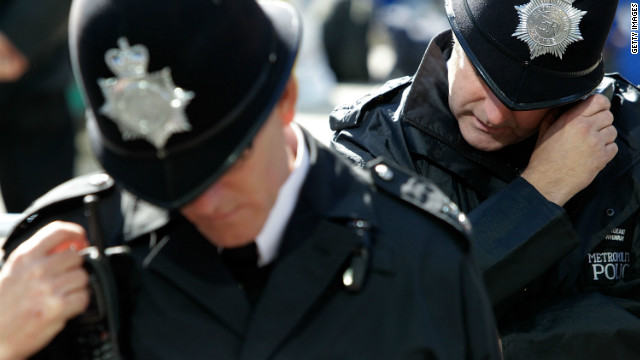 A 40-year-old woman was arrested Thursday in south London on suspicion of terror offenses, the Metropolitan Police said.