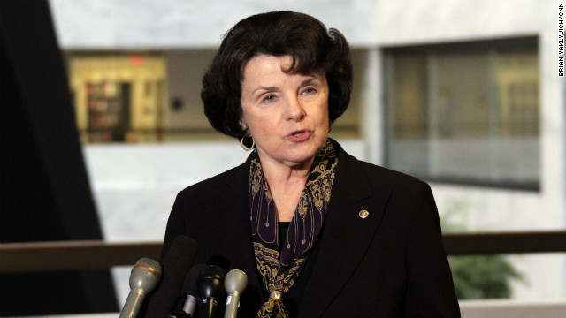 Democratic Sen. Dianne Feinstein of California made an appeal to support an expanded Violence Against Women Act.