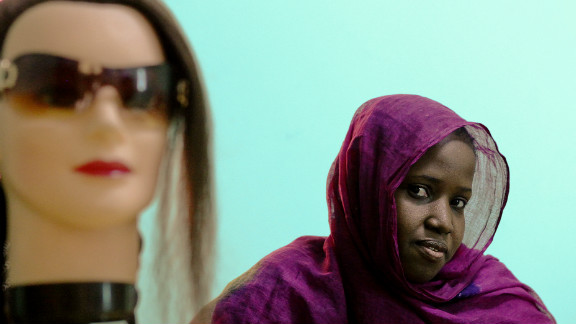 Escaped slaves learn to sew, cook and braid hair at a rare training center in Nouakchott.