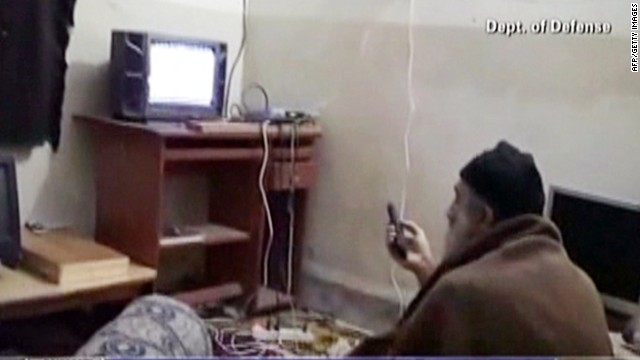 Bin Laden in his Pakistan compound.