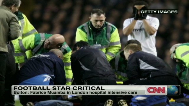 Stadium hushed as medics worked
