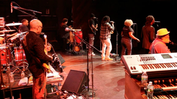 They are part of an international touring band that brings musicians of all backgrounds together, raising money and awareness for the PFC foundation.
